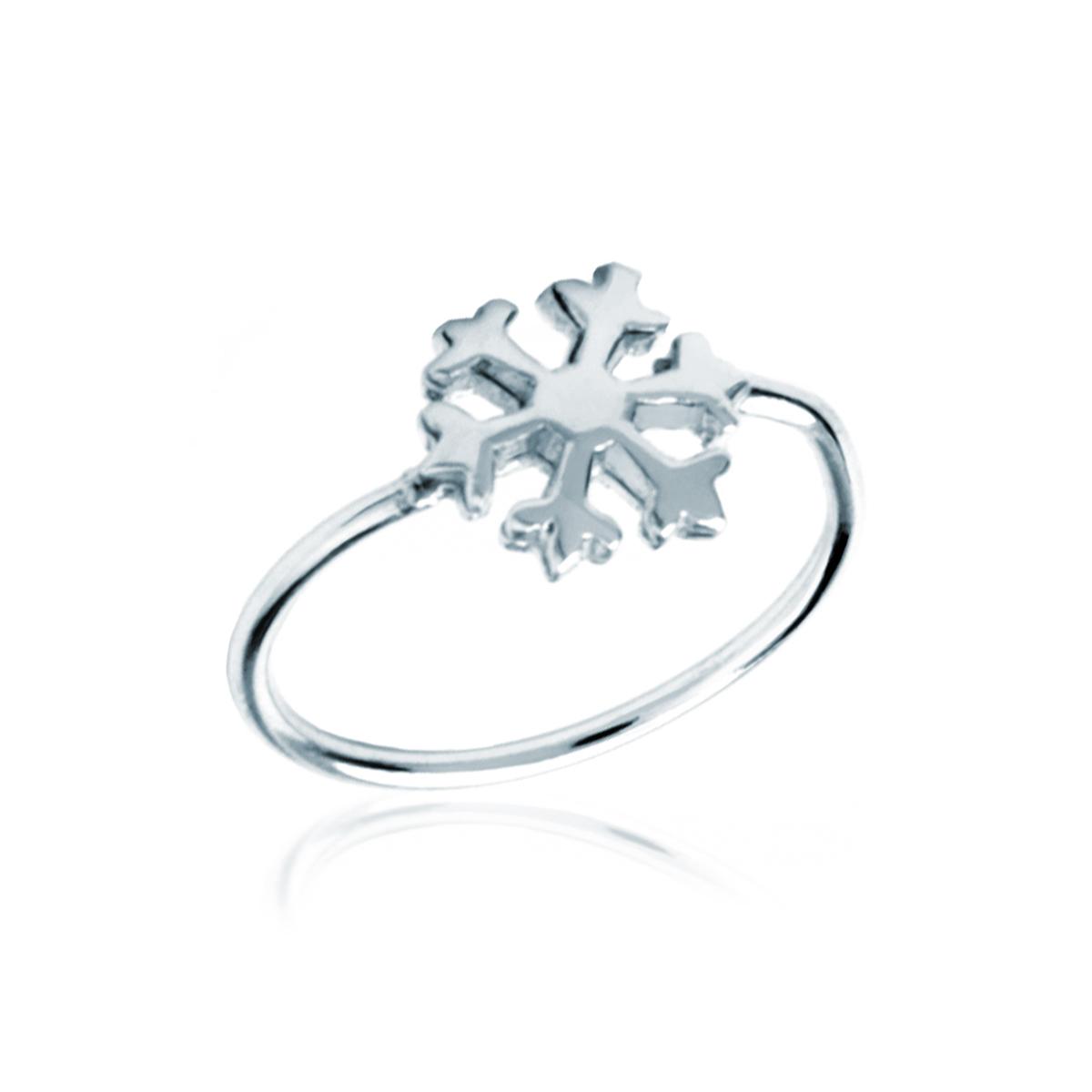 anello con fiocco di neve pandora