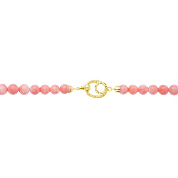 Collana di Corallo Rosa a Gradazione da 7 a 15 mm e chiu. Oro 18 kt-2