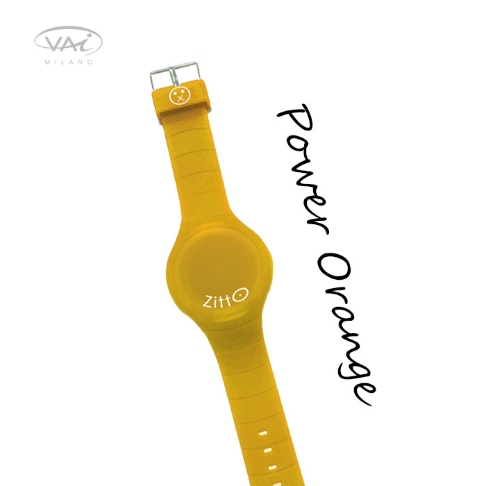 Orologio Zitto Arancione Power Orange in Silicone Quadrante da 35 mm