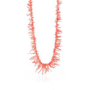 Collana a Frange di Corallo Rosa da 90 cm chiu. Argento