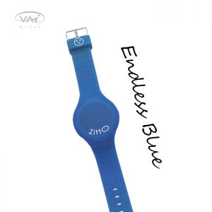 Orologio Zitto Blu Endless Blue in Silicone Quadrante da 44 mm