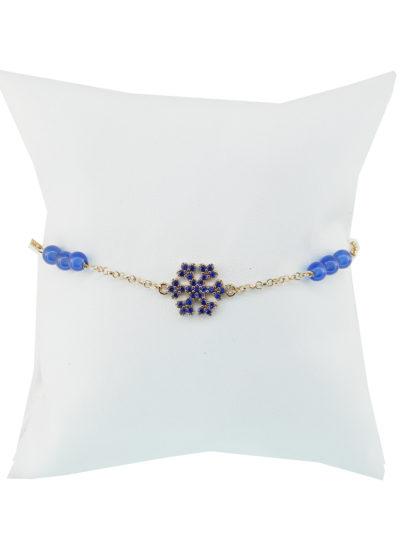 Bracciale, Fiocco di Neve, Argento, pietre, bracciale argento e pietre con fiocco di neve,