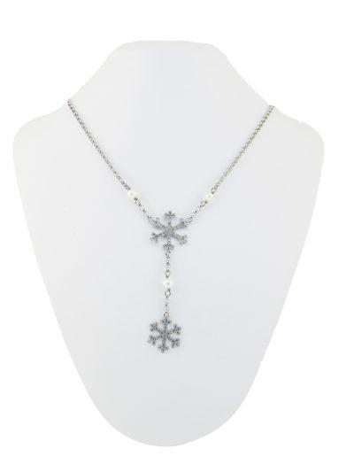 Collana Argento e Fiocchi di Neve, Collana con Fiocchi di Neve, collana , fiocco di neve, argento, gioielli
