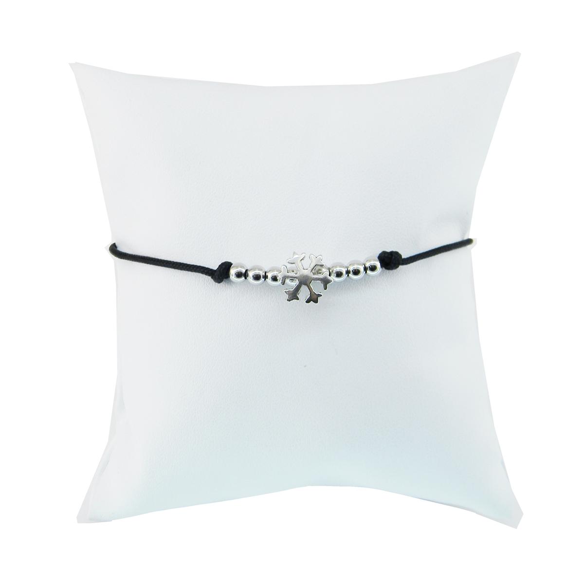 Bracciale Corda Fiocco Neve, Argento, bracciale, fiocco di neve, i gioielli del mare,