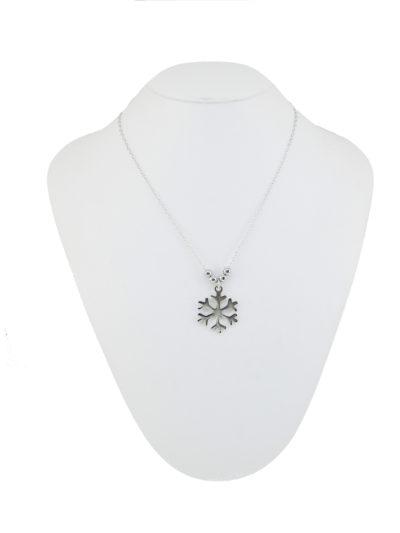 Collana con fiocco di Neve, fiocco di neve, collana, argento,