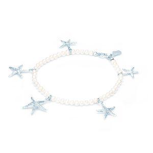 Bracciale Perle con Cinque Stelle Marine Circe in Argento