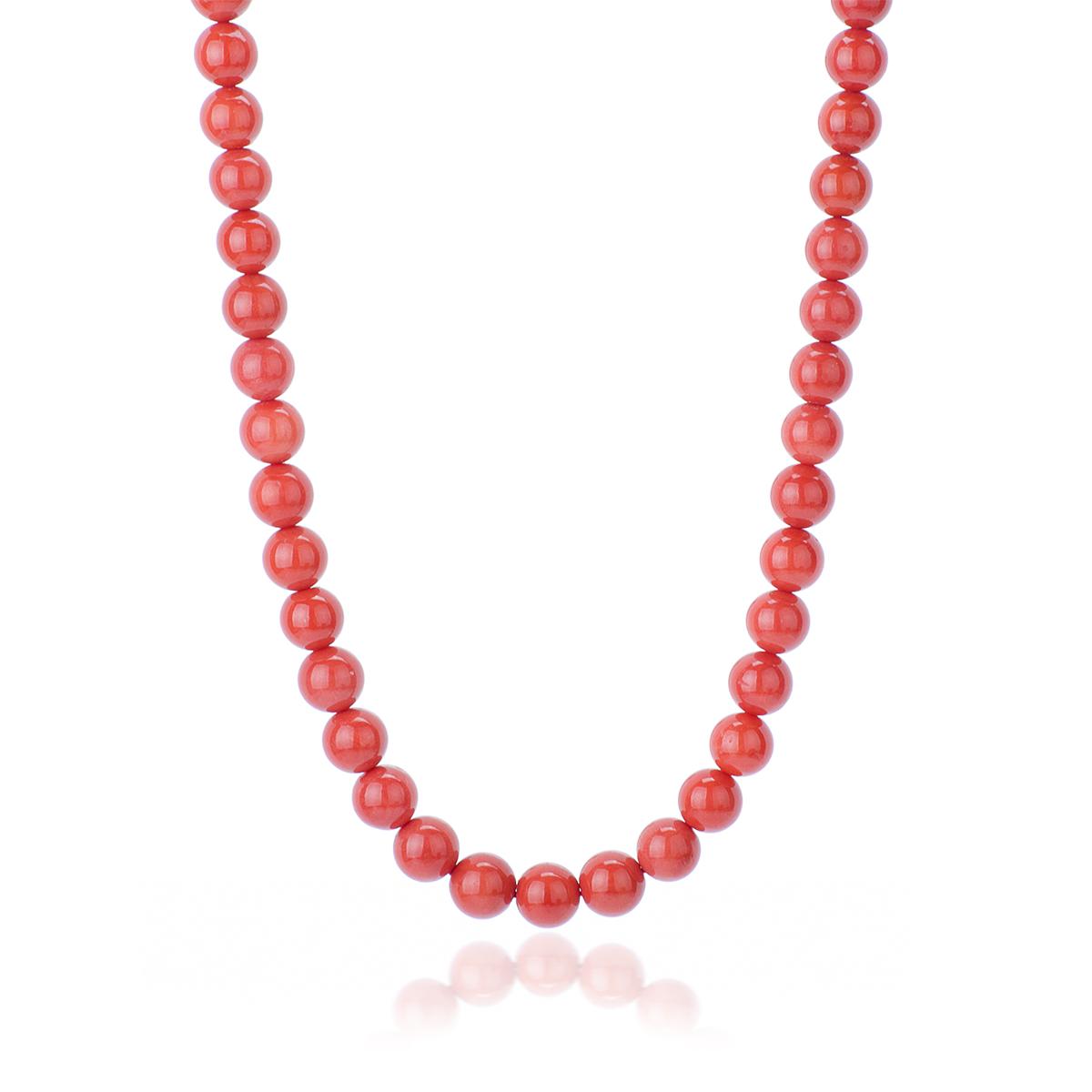 nuovi stili d59e3 5f7df Collana Corallo Rosso Qualità Extra da 10 mm con chiu. Oro 18 kt