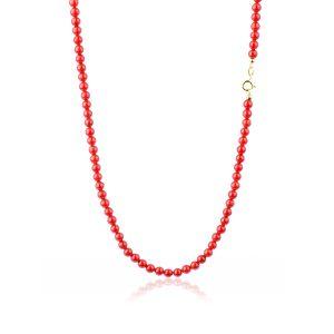 Collana Coralo Rosso Extra 5 mm Oro 18 kt