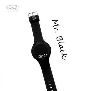 Orologio Zitto Nero Mr. Black in Silicone Quadrante da 44 mm